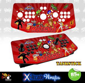 Multi Game v1  X Arcade Artwork Tankstick Overlay Graphic Sticker