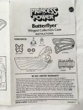 Vintage She Ra POP Butterflyer Ad Sheet Instructions HTF 1986