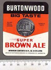 Vintage UK Beer Label - Burtonwood (Forshaw's) Brewery - Super Brown Ale (b)