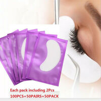 100PCS Eye pads Eyelash Pad Gel Patch Lint Free Lashes Extension Mask Eyepads