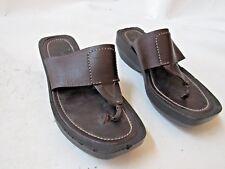Tods Brown Leather Platform Sandals Size EU 38/ US 8.5