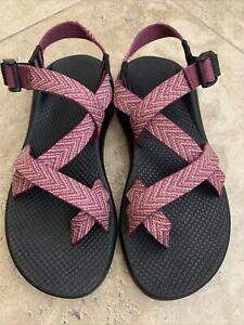 Chaco Z Cloud Unaweep Pink Single Strap Toe Loop Water Hiking Sandals Women's 9