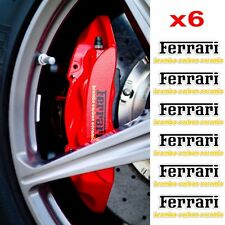 Ferrari Brembo Carbon Ceramic Brake Caliper Decals 6 Pcs. Printed on Clear Vinyl
