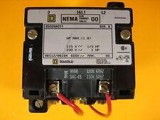 Square D  8502SAO11V02  AC Magnetic NEMA Size 00 Contractor