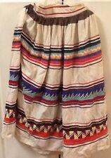 Vtg. Seminole Patchwork Skirt - (3) Rows Patchwork - c1980's -