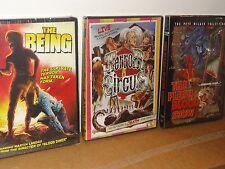 3-Shriek Show Horror Films - The Being / Terror Circus / The Flesh & Blood Show.