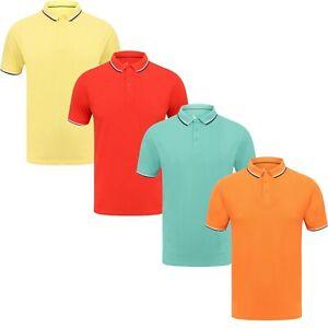Men's Sth Shore Classic Short Sleeve 100% Cotton Pique Polo Shirt T-Shirt PK Top