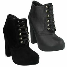 Spot on Women's Synthetic Block Ankle Boots