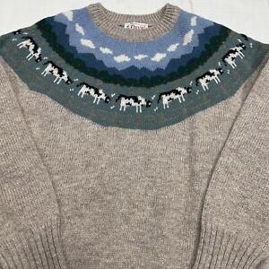 Vintage ORVIS Women's 34 S/M? Cow Pasture Farm Sweater Shetland Wool EUC! L/S