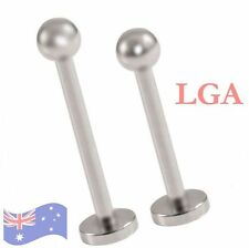 1 x Monroe Labret Bar Lip Ring Chin Stud  316L Steel Ball end 16g 10mm A
