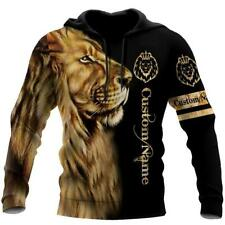 NEW Custom Name King Lion 3D Hoodie All Over Printed V1 Best Price Us Size