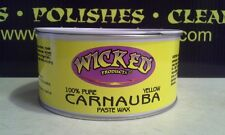 WICKED PRODUCT YELLOW CARNAUBA PASTE WAX  #12620 14 OZ. CAN ( MADE IN USA)
