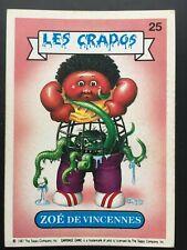 Carte Les Crados Nicolas Cadenas n°138 Garbage Pail Kids Fr 1987 série 2 Topps