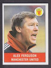 Panini - Football 91 - # 198 Alex Ferguson - Manchester United