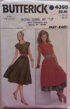 Vintage Butterick Pattern 4395 Rockabilly Dress Petticoat Sash Size 12-14-16