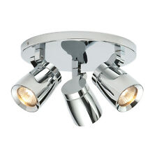 SAXBY KNIGHT Chrome Round GU10 Adjustable Bathroom Ceiling Spotlights IP44 39167