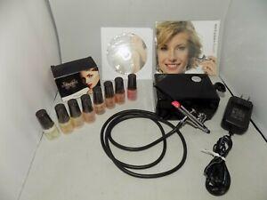 LUMINESS 3 speed airbrush makeup system w/ makeup starter kit, new