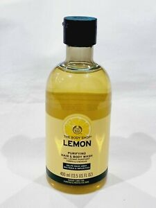 The Body Shop Lemon Purifying Hair And Body Wash 400ml Natural Essential Oil