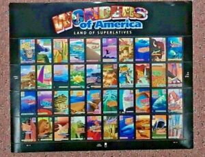 Three Sheets x 40 = 120 of WONDERS OF AMERICA 39¢ US Postage Stamps Sc 4033-4072