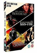 Braveheart/Man On Fire/The Thomas Crown Affair (DVD, 2006, 3-Disc Set, Box Set)
