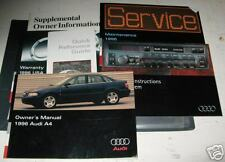 1996 AUDI A4 OWNERS MANUAL SET 96 OWNER W/CASE