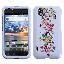 For Alltel LG Ignite HARD Protector Case Snap on Phone Cover Falling Flowers