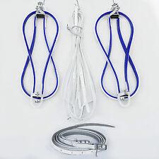 Pacing Hopples - Flat Style -  White / Blue Trim