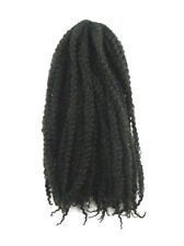 CYBERLOXSHOP MARLEY BRAID AFRO KINKY HAIR #2 DARKEST BROWN DREADS SYNTHETIC