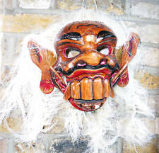 LARGE monster mask with full scalp,hand-carved in Bali Haloween prop horror,new
