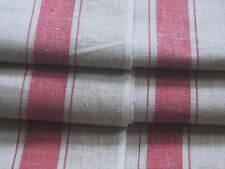 herrliches Rein Leinen Roll Mangeltuch breite rote Webkante/Bordüre unben. + Top