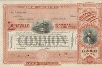 Louisville Railway Company > Kentucky stock certificate railroad trolley share