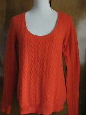 Aqua Women's Red Cashmere Detailed Sweater Size Large NWT
