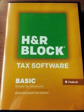 H&R Block Basic 2013 Federal Returns + 5 E-Files Win/Mac New in open Retail Box