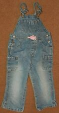 OLD NAVY Baby Girls Jeans Bib OVERALLS Size 3T Carpenter