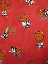 Mickey Mouse Playing Basketball Red Novelty Necktie Disney Co 100% Polyester (O)