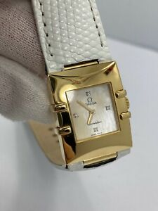 Omega Constellation 18Kt Solid Gold Diamond Mother of Pearl Dial quartz watch