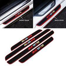 4PCS MUGEN Black Rubber Car Door Scuff Sill Cover Panel Step Protector