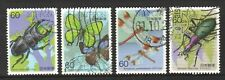 JAPAN 1986 INSECTS SERIES 2ND ISSUE COMP. SET OF 4 STAMPS SC#1684-1687 FINE USED