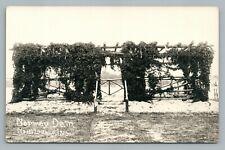 Norway Dam Pergola MONTICELLO Indiana RPPC Interesting Build—Antique Photo 1930s