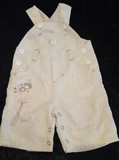 Gorgeous baby boy biege dungarees new born from pumpkin patch 0 - 3 months