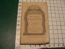 "Original april 1843 ANGLO-AMERICAN Magazine VOL 1 #3; THE ""BLACK"", DAGUERROTYPE,"