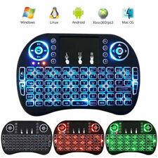 Rii i8+ Backlit Multi-Touch 2.4G Mini Wireless keyboard KODI Android PC PS3/XBOX