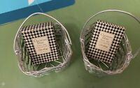 2 Vintage Christian Dior Diorling  Eau De Toilette Paris in Two Gift Baskets
