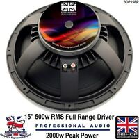 """15"""" inch Replacement Speaker Driver Cast Alloy PA or Car 2400w Peak 600w RMS"""