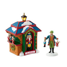 Dept 56 Alpine Village, Christmas Market, The Nutcracker Booth, Set of 2 #401689