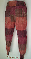 Patchwork Cotton Trousers Hippie Gypsy Boho Harem Baggy Yoga Pants Nepal HRT4