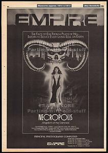 NECROPOLIS__Original 1986 Trade print AD / poster_screening promo__LEEANNE BAKER