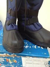 Totes winter snow boots for Youth Boys Size 4 Black/Navy Pull on New in Box