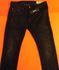 New Diesel THAVAR Slim Skinny Jeans Men 32 W x 32 L Distressed Black 0679F