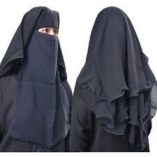 Hayaa 4 Layers Fluttery Butterfly Black Saudi Niqab Hijab Burqa Islamic Clothing